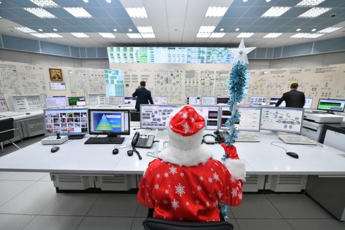 Дед Мороз на Ростовской АЭС