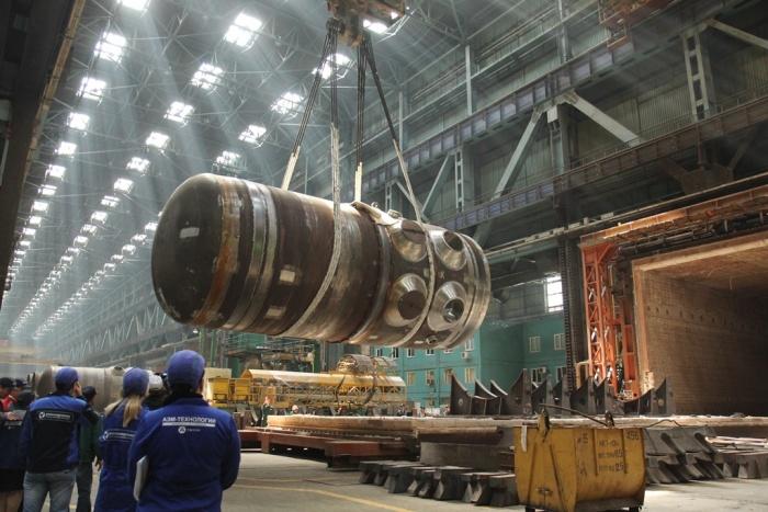 Атомэнергомаш завершил сварку корпуса реактора для Белорусской АЭС