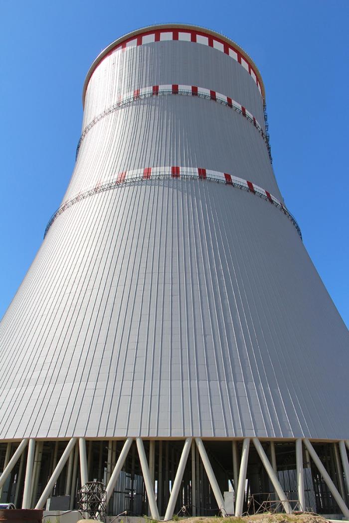 Градирня №2 первого энергоблока Ленинградской АЭС-2