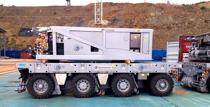Cпециалисты РосРАО испытывают в Приморье уникальную модульную транспортную систему для перевозки тяжелых конструкций