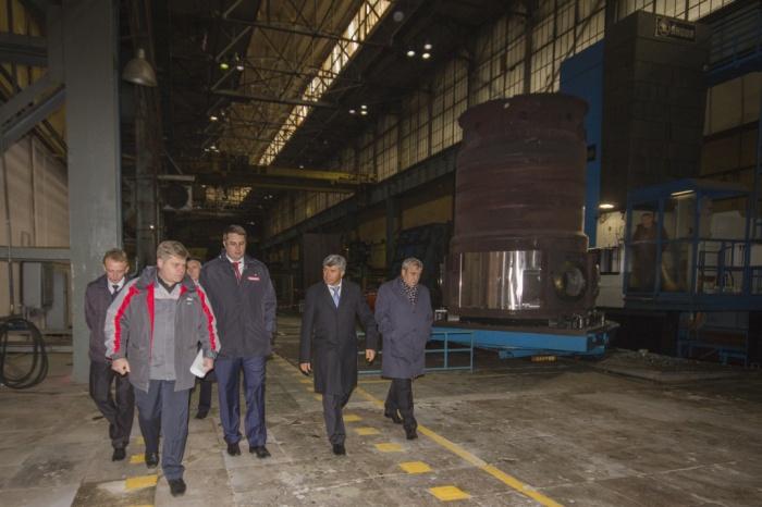 Генеральный директор Атомэнергомаша Андрей Никипелов проинспектировал ход производства силовой установки РИТМ-200