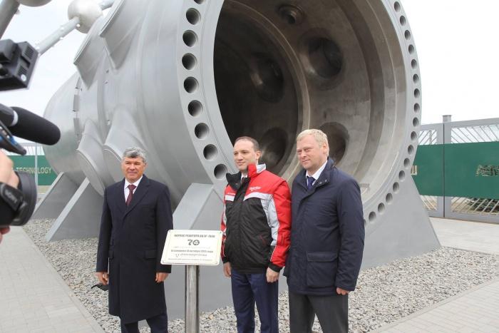 Торжественное открытие монумента атомному реактору в Волгодонске