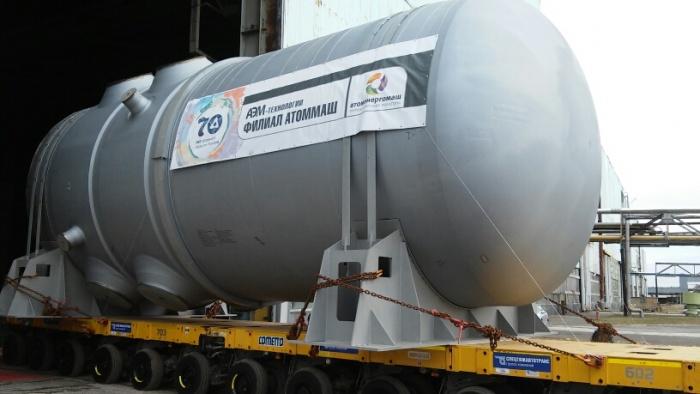 Первый корпус реактора ВВЭР для Белорусской АЭС сошел с производственной площадки волгодонского Атоммаша