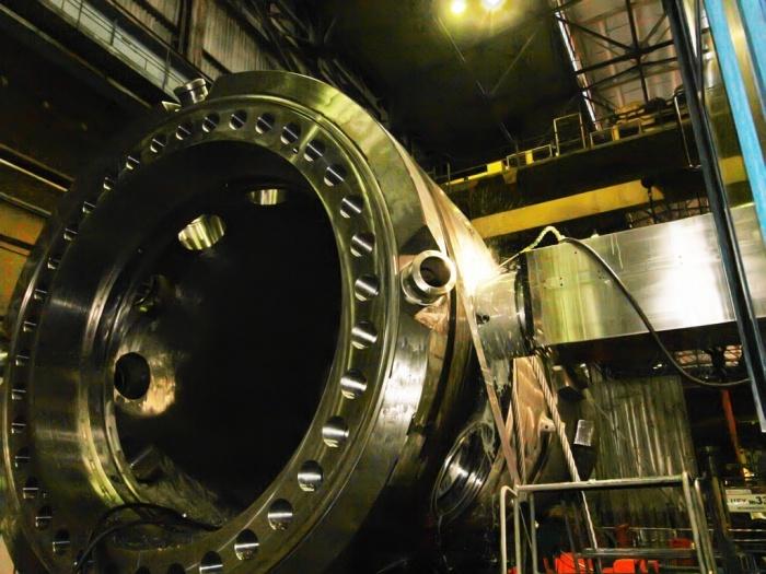 На ЗиО-Подольске применили уникальный способ обработки корпуса ледокольного реактора