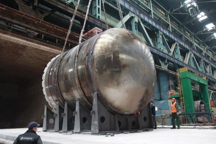 Нижний полукорпус реактора для второго энергоблока Белорусской АЭС