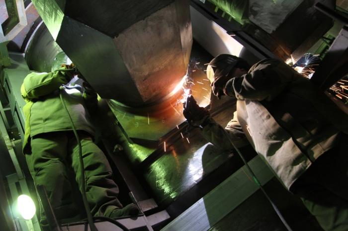 Приварка гидрокамеры к корпусу реактору РУ РИТМ-200