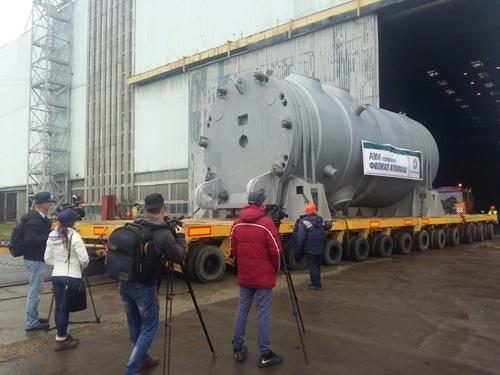 Отгрузка корпуса реактора для второго блока Белорусской АЭС
